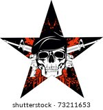 the vector image of skull in... | Shutterstock .eps vector #73211653