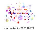 digital marketing concept... | Shutterstock .eps vector #732118774