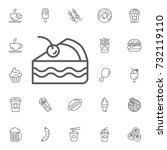cake icon on the white... | Shutterstock .eps vector #732119110