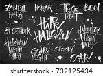 halloween lettering set on...   Shutterstock .eps vector #732125434