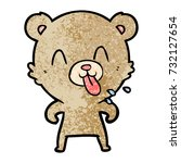 rude cartoon bear | Shutterstock .eps vector #732127654