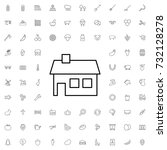 house icon. set of outline...