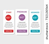collection of pricing plans for ... | Shutterstock .eps vector #732130564