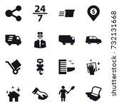 16 vector icon set   share  24... | Shutterstock .eps vector #732131668
