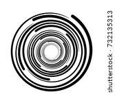 vortex circular swirl lines... | Shutterstock .eps vector #732135313