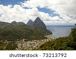 Overhead View Of Soufriere And...