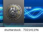 3d illustration of metal box... | Shutterstock . vector #732141196