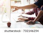 business analysis data  in...   Shutterstock . vector #732146254