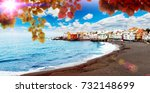 sunset scenery spain sea and... | Shutterstock . vector #732148699