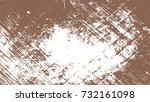 brown scratches. amber paint.... | Shutterstock .eps vector #732161098