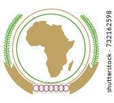 vector illustration african... | Shutterstock .eps vector #732162598