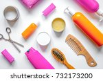 womens haircare spa in bottle... | Shutterstock . vector #732173200