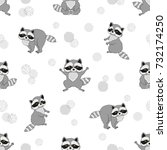 seamless pattern with cute baby ... | Shutterstock .eps vector #732174250