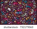 colorful vector hand drawn... | Shutterstock .eps vector #732175063