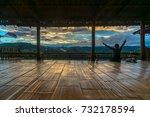 mae hong son thailand   october ... | Shutterstock . vector #732178594