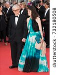 Small photo of CANNES, FRANCE - MAY 11, 2016: Woody Allen, Soon-Yi Previn attends the 'Cafe Society' premiere and the Opening Night Gala. 69th annual Cannes Film Festival at the Palais des Festivals