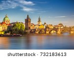 view of the vltava river and... | Shutterstock . vector #732183613