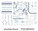 vector design elements for page ... | Shutterstock .eps vector #732185443