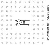 projector icon. set of outline... | Shutterstock .eps vector #732191098