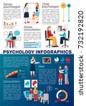 psychologist counselling people ... | Shutterstock .eps vector #732192820