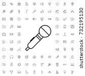 microphone icon. set of outline ...