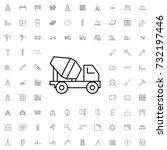 concrete mixer truck icon. set... | Shutterstock .eps vector #732197446