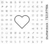 heart icon. set of outline... | Shutterstock .eps vector #732197986
