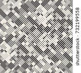 modern stylish halftone texture.... | Shutterstock .eps vector #732199558