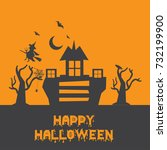 happy halloween vector... | Shutterstock .eps vector #732199900