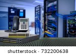 ip telephone and network switch ... | Shutterstock . vector #732200638