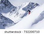free ride skiing | Shutterstock . vector #732200710