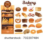 Set Of Bakery Products On...