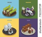 wine production 2x2 design... | Shutterstock .eps vector #732210739