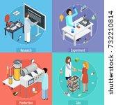 pharmaceutical production... | Shutterstock .eps vector #732210814
