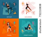 modern dance types concept with ... | Shutterstock .eps vector #732210838