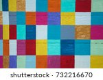 Colorful Checkerboard On Wood...