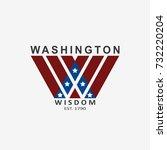 washington typography for t... | Shutterstock .eps vector #732220204