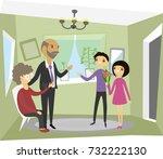 grandchildren visiting...   Shutterstock .eps vector #732222130