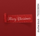 vector merry christmas curved...   Shutterstock .eps vector #732223054