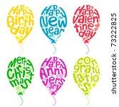 Illustration Of Set Of Balloon...