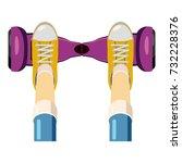 person over a self balancing... | Shutterstock . vector #732228376