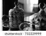 oriental coffee cup   side view ... | Shutterstock . vector #732229999