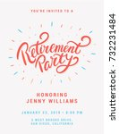 retirement party invitation. | Shutterstock .eps vector #732231484