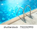 grab bars ladder in the blue... | Shutterstock . vector #732232993