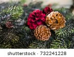 christmas decoration as a... | Shutterstock . vector #732241228