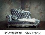 luxury baroque sofa  | Shutterstock . vector #732247540
