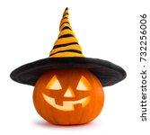 jack o lantern halloween... | Shutterstock . vector #732256006