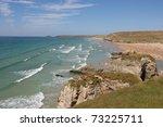 cornwall coastline  england | Shutterstock . vector #73225711