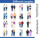 different pairs  detailed... | Shutterstock .eps vector #732259213