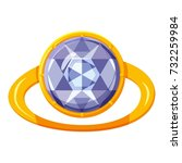 gold ring with stone icon.... | Shutterstock . vector #732259984